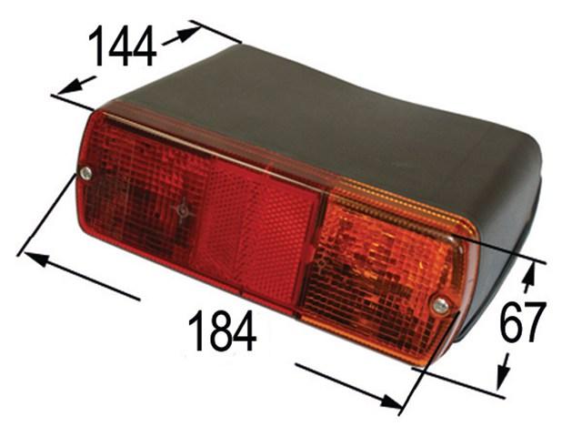 Rückleuchte BRITAX Links für Ford//New Holland ohne Kabine 2310-9700 TW 10-35